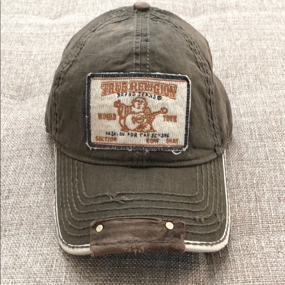 ff3ac877 True Religion Accessories | Mens Hat Cap Olive Vintage Nwt | Poshmark